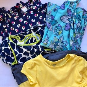 Girls SZ 5T Lot of 4 Dresses / Rompers Play Cond.